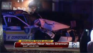 Precinct 6 constables in crash with church van on Navigation
