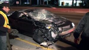 West 610 Loop rollover speeding accident