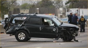 fatal accident Highway 290 Toyota Forerunner ejection