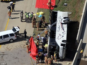 Irving casino bus crash SH 161