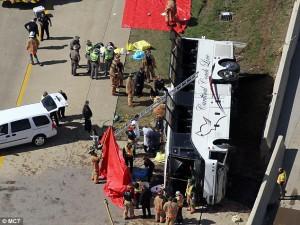 Irving casino bus crash SH 161