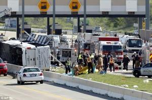 casino bus crash state highway 161 irving texas