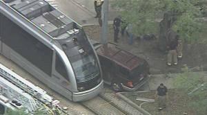 METRO rail accident in Houston medical center