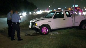 fatal rear end accident on North Loop Monte Carlo Ford Ranger