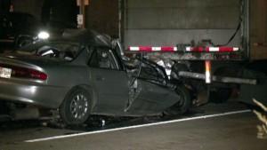 Buick 18-wheeler accident Katy Freeway Grand Parkway