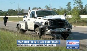 Beltway 8 Jeep Cherokee rear end accident
