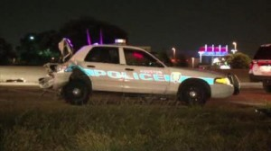 police car rear-ended US290 Pinemont